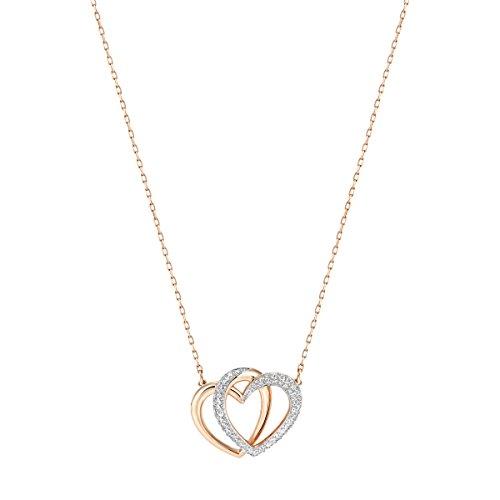 Swarovski-Collier-Dear-medium-blanc-plaqu-or-rose-0