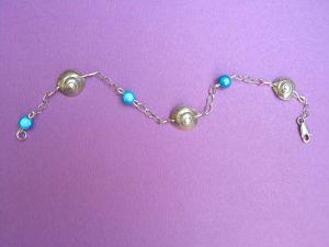 Bracelet en perles en verre élastiques