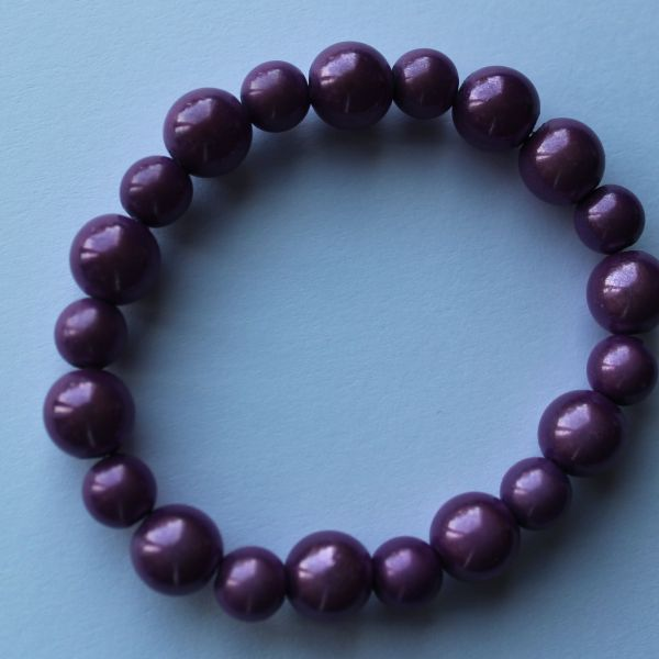 Bracelet perles magiques mauve