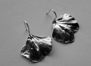 Boucles d'oreilles ginkgo
