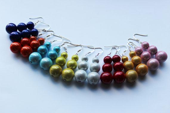 Boucles d'oreilles perles magiques