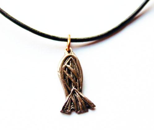 Pendentif poisson bronze