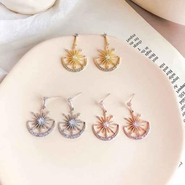 Boucles d'oreilles fantaisie Crystal Solaire