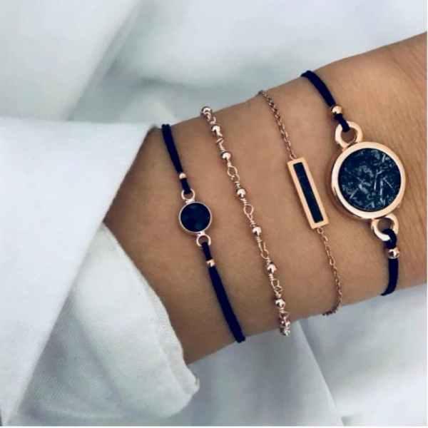 Bracelets fantaisie or noir