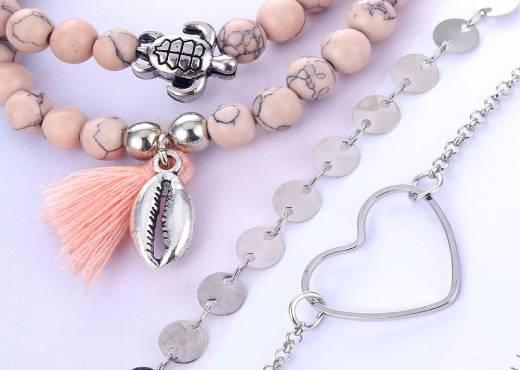 Ensemble de bracelets boheme fantaisie pour Femme