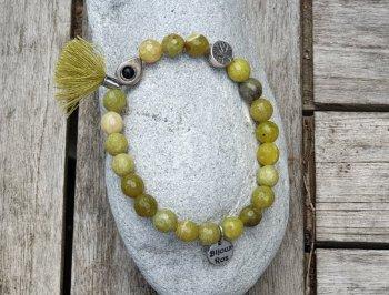 Bracelet jade lemon facetté