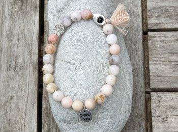 Bracelet élastique opale rose
