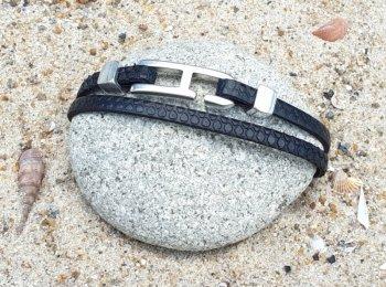 Bracelet homme pneu noir