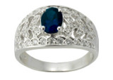 Bague Blue Silver In Paris