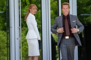Tenue couleur blanc de Pepper Potts