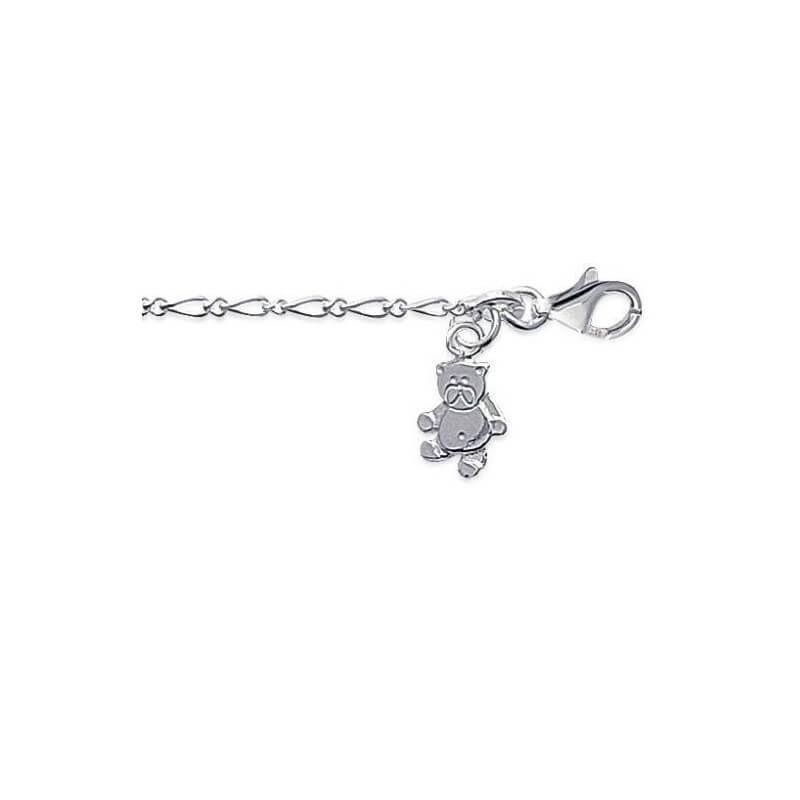 bracelet enfant chaine pendentif ourson argent massif 925 000 bijoux enfant