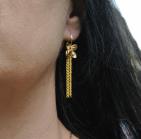 boucles d oreilles fleur pompon chainette p (Copier)