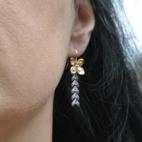 boucles d oreillesfleur epi gris porte (Copier)