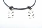 bracelet collier cordon 2 filles geom argent (Copier)
