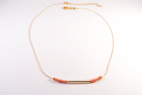 collier dore barre orange (Copier)