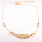 collier dore plume orange (Copier)