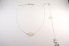 collier et bracelet argentes trefle nacre blanc (Copier)