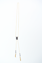 sautoir dore peyote marine (Copier)