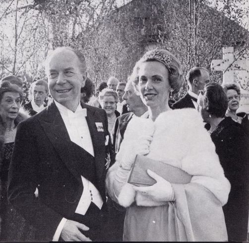1965 05 03 Wedding Count Jan Bernadotte & Gunilla Stampe 1 Ctesse Marianne Bernadotte