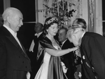 1956 Greek State Visit to West Germany 2 State Banquet with Theodor Heuss