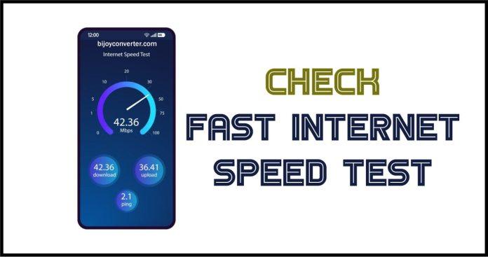Fast Internet Speed Test Checker on Google - Bijoy Converter