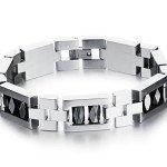 Массивный стальной мужской браслет