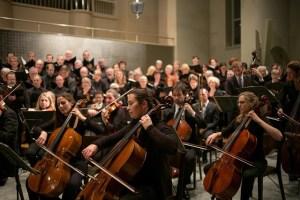 Mooie muziek beschadigt de oren van het orkest