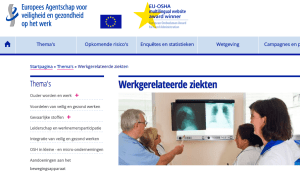 Nieuwe Europese website over werkgerelateerde ziekten