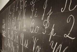 schoolbord met krijt