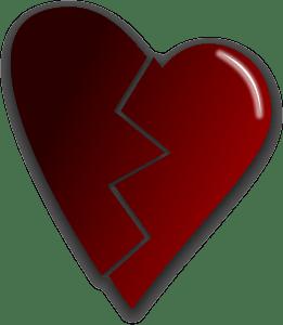 Gebroken hart in het werk