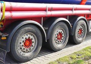 Tankwagen voor chemicaliën-transport