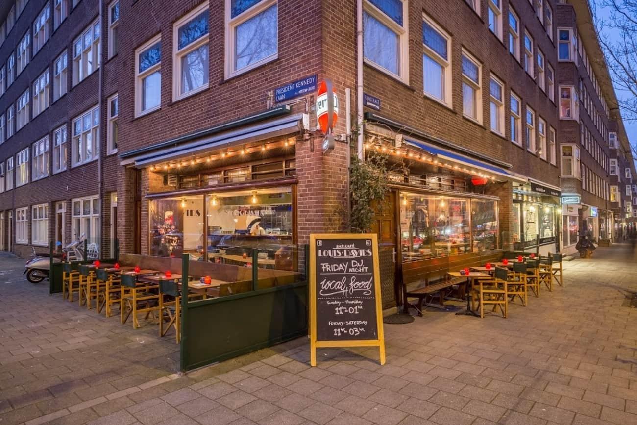 Bar Cafe Louis Davids Rijnstraat Amsterdam