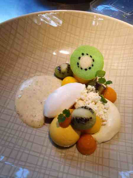 Mango kiwi dessert Kasteel de Vanenburg Putten