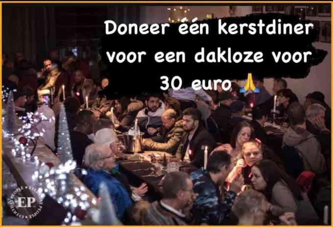 Dak En Thuislozen Kerst Diner Everyday People Rotterdam Doneren