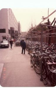 Bicycle parking lot Shanghai 1989