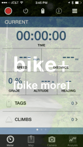 Biking statistics application
