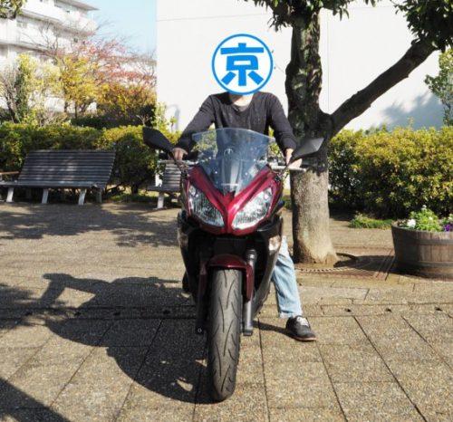 Ninja400 正面 信号待ち