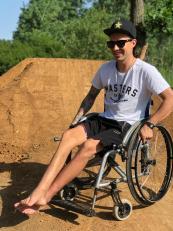 Libor Podmol na voziku