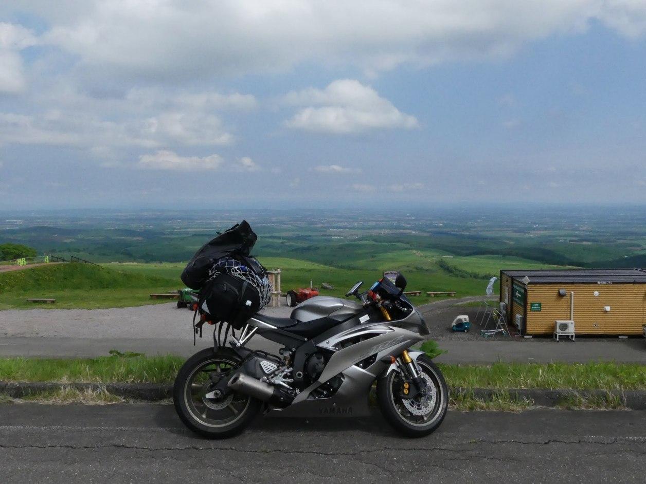ナイタイ高原牧場 北海道 ツーリング バイク YZF-R6