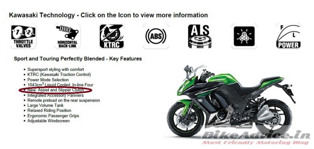 2016 Kawasaki Ninja 1000 Gets Assist and Slipper Clutch