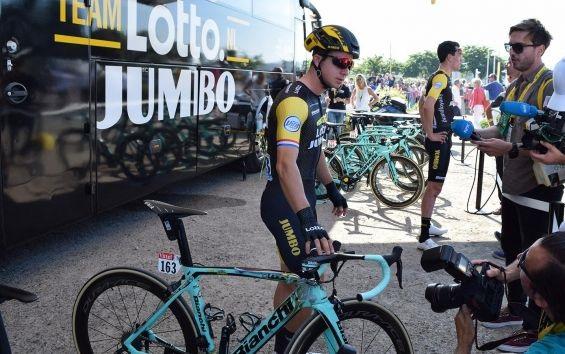 A Bianchi Oltre XR4s de Primož Roglič e Dylan Groenewegen no Tour de France 2018 (10)