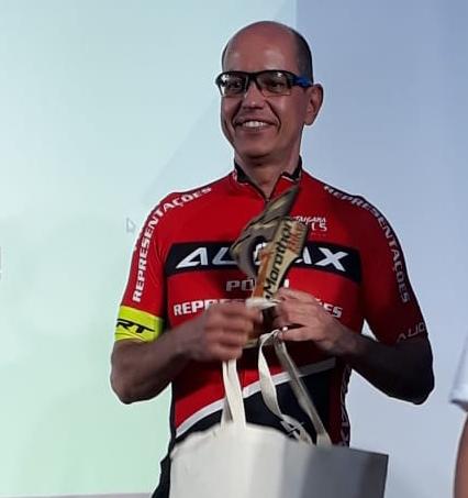 Roberto Araujo foi vencedor do Desafio Strava. Foto Arquivo Pessoal