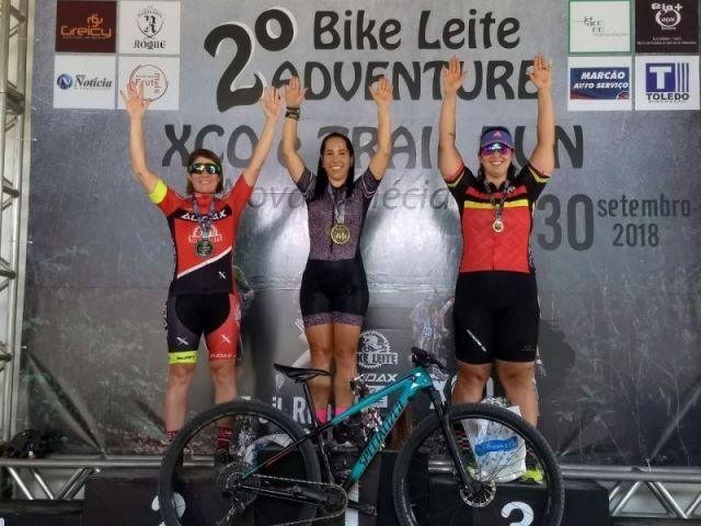 Valdenice é vice-campeã no 2º Bike Leite Adventure. Foto Arquivo Pessoal..jpeg
