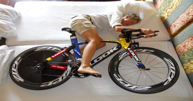 Dormindo com a bike