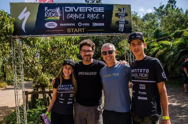 Luisa Silveira, Eduardo Gasperini, Mario Roma e Sanderson Celso(Ney Evangelista - Brasil Ride)