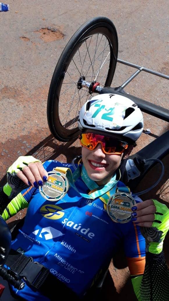 Mariana Garcia conquista 2 medalhas de Ouro na 2ª Etapa da Copa Brasil de Paraciclismo (1)