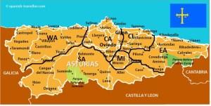 Map-Of-Asturias Regions