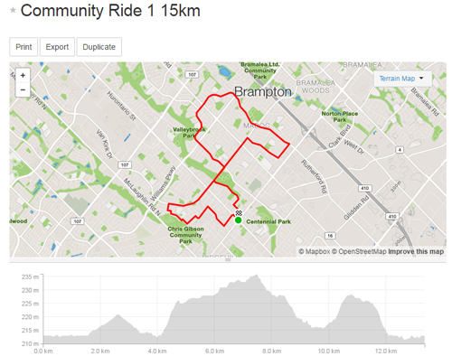 Community Ride 1 -15km Map_500