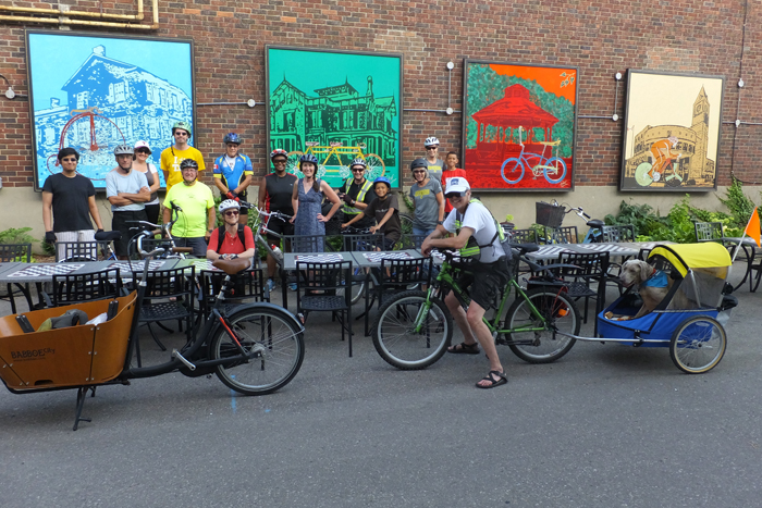 Vivian Lane cycling murals