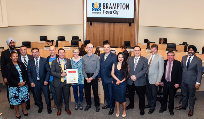 Brampton Mayor Proclaims Bike Month